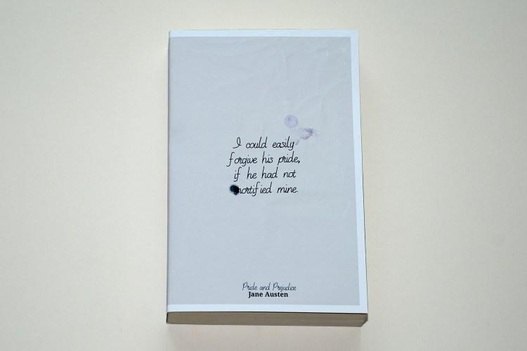 Jane Austen – Pride and Prejudice book cover design