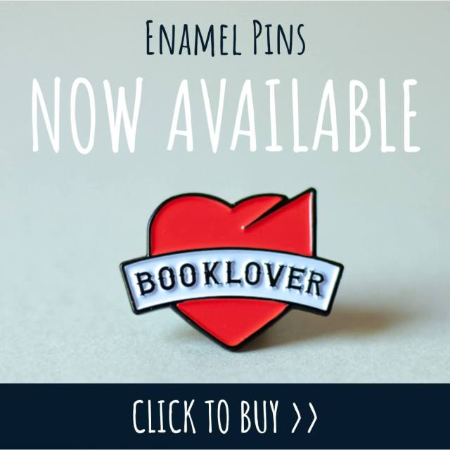 Buy 'Booklover' enamel pin badge