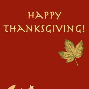 Thanksgiving and Thanks!