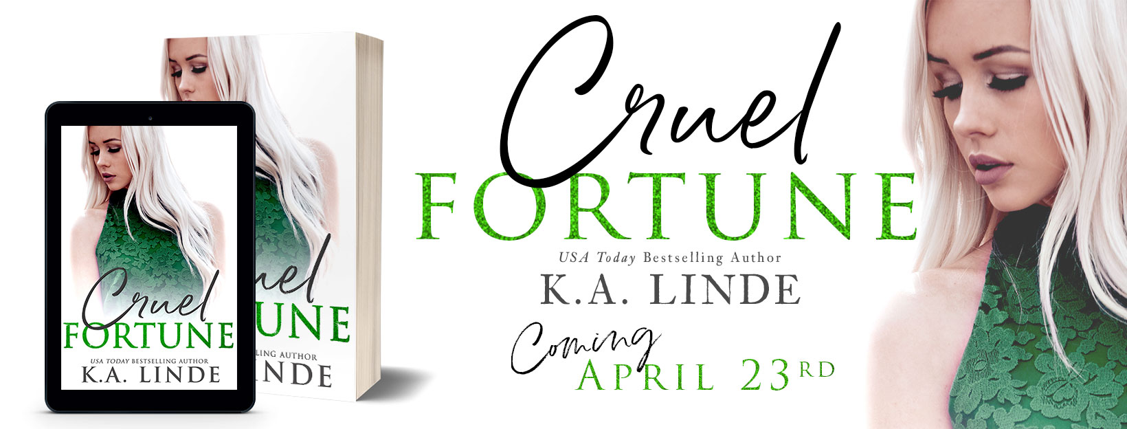 Blog Tour: Cruel Fortune (Cruel #2) by K A Linde