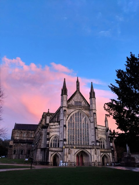 Winchester Cathedral Sunset