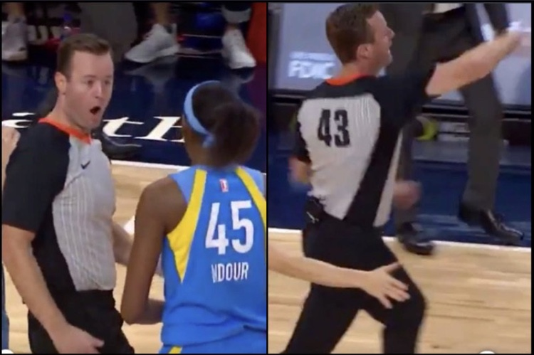 WNBA Ref Disgusted After Walking Into Player's Hand, Ejects Her