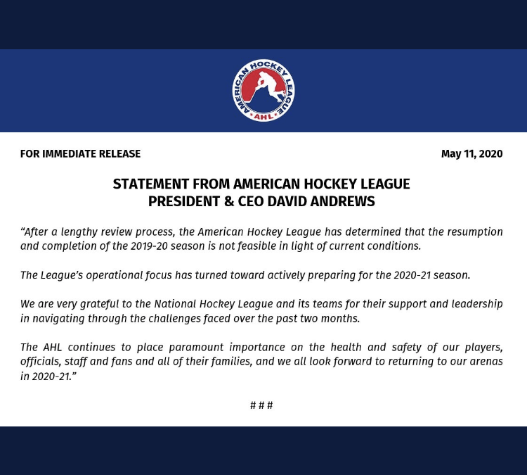 The AHL Season is Dead