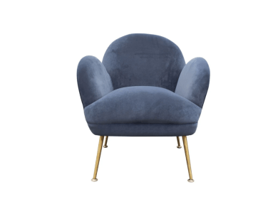 ARMCHAIR D.K GREY, STAINLESS STEEL GOLDEN- Ilumel Outlet