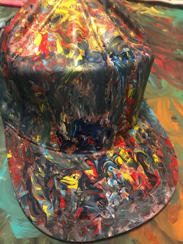 Royal Custom Hand-Painted Leather Cap