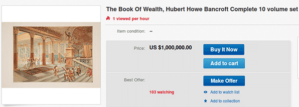 The Book of Wealth on eBay - another auction