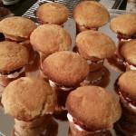 12 Mini GF Victoria Sponge Cake-Muffins displayed on a tray