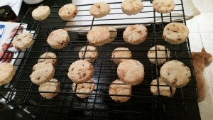 Cooking racks with thin scones cooling