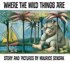 Image may contain: text that says 'WHERE THE WILD THINGS ARE STORY AND PICTURES BY MAURICE SENDAK'