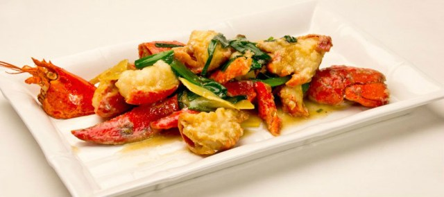 Lobster with Scallion Ginger