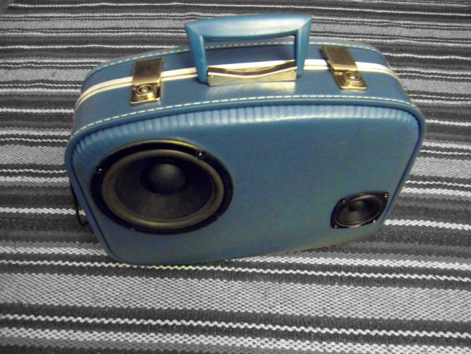 first BoomCase vintage suitcase boombox