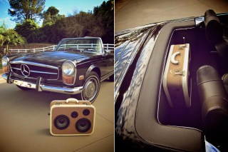 classic car stereo speaker boombox boomcase mercedes skyway LA vintage car vintage boombox stereo radio classic retro