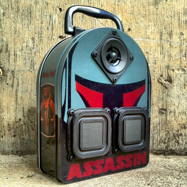Star Wars Boba Fett Starwars BoomCase BoomBox LunchBox Assassin