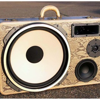 boomcase vintage snake eyes bass suitcase boombox
