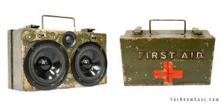 First Responder boomCase Vintage Army First Aid Kit