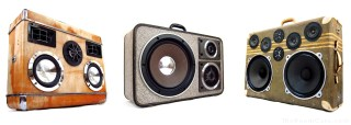 Suitcase BoomBox Suitcase Speaker BoomBox BoomCase Jamie Oliver UK London Chef Cook Silver BoomCase Knight