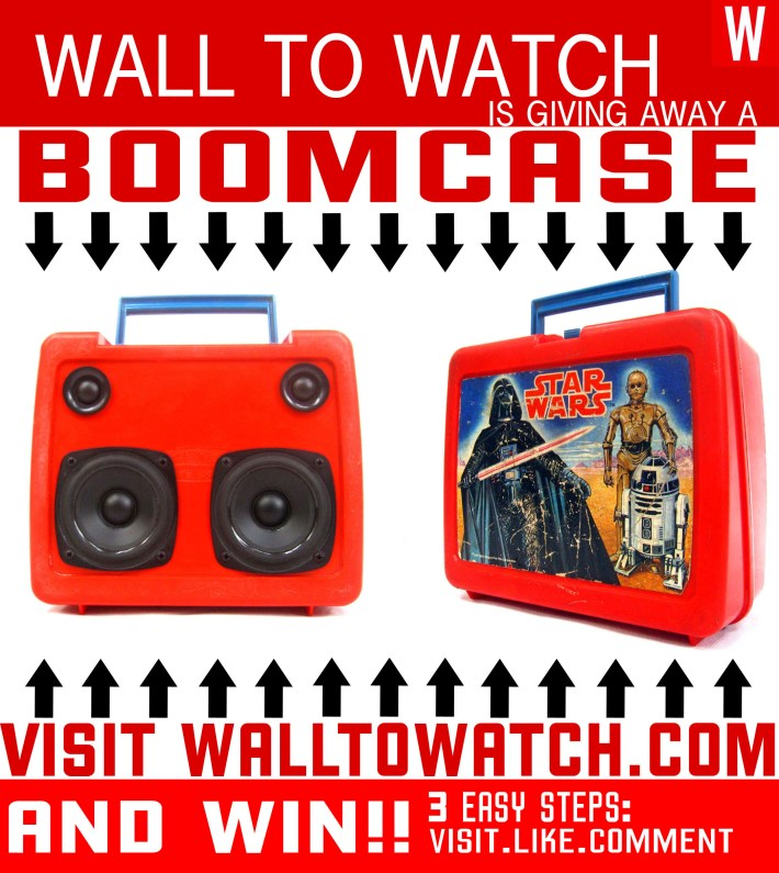 Free BoomCase STar Wars Lunchbox DarthVader 3cpo r2d2 BoomBox Retro