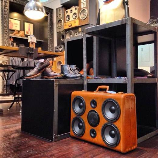 Klein Epstein And Parker BoomCases West Elm Modern Furniture Design Classic Bay Area Emeryville Holiday BoomCase Pop Up Shop Popup Store Valencia Mission San Francisco SF Dijital Fix Cool Store Amazing BoomBox Custom