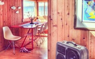 Eames BoomCase Chair Surf Wood Coastal Beach Ocean House Retro Modern Beach House Interior Design