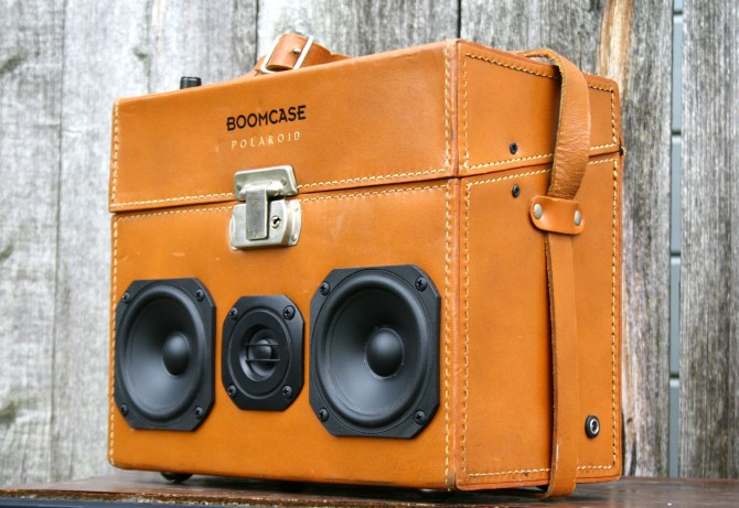 Polaroid Camera Bag Vintage Leather BoomBox BoomCase Speaker Portable Bluetooth Retro