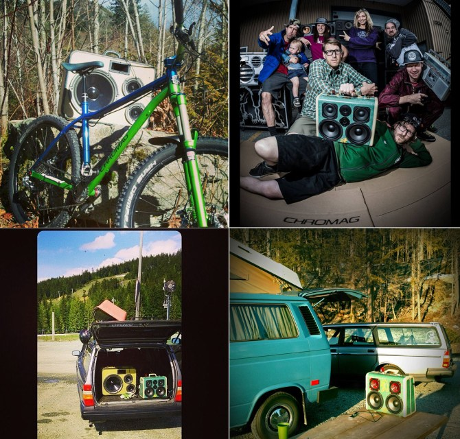 Chromag Volvo 240 Wagon Julian Hine Rasta Chromag Bikes Whistler Canada Boomcase BoomBox Vintage Wedding Forest Wooden