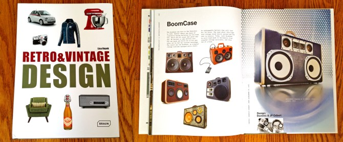 Retro Vintage Design Book BoomCase BoomBox Braun Publishing Phillips Fiat Vintage Suitcase