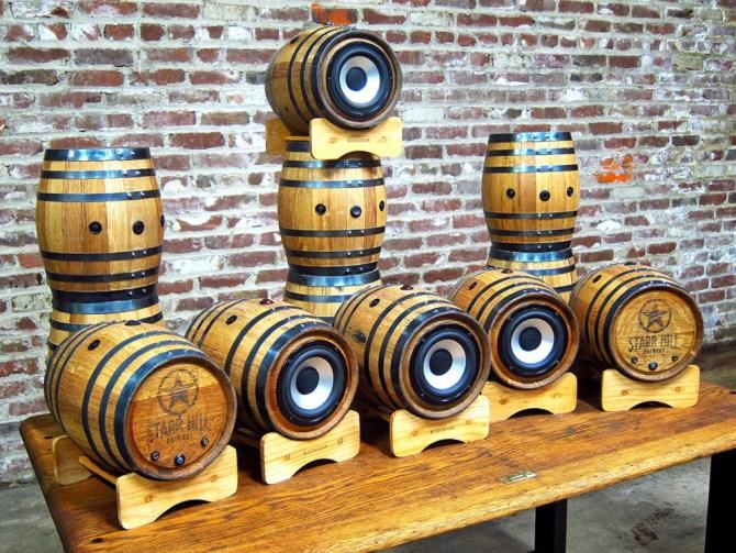 Beer Speaker Barrel BoomCase Starr Hill Brewery Bluetooth Wine Barrel