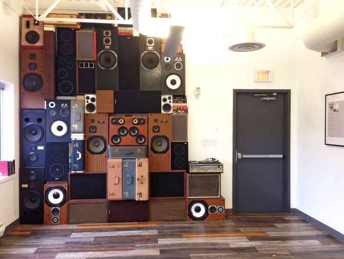 Speaker Wall Vintage Speakers Wall of Sound of Boom BoomCase Speaker Install