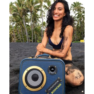 Hawaii Beach Life Bikini Girl BoomCase Speaker BoomBox Blacks Sand Beach Bluetooth Portable
