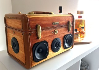 Wooden BoomBox BoomCase Seattle Music Tequila Party Bluetooth Speaker Best Portable PA