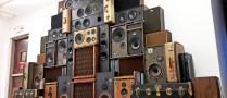 Speaker Wall of Sound BoomBox BoomCase Vintage Speakers Suitcase Cerwin Retro