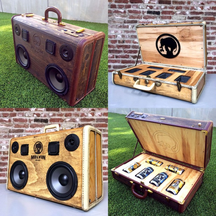 melvin beer BoomCase BoomBox Speaker Bluetooth Portable Brewery