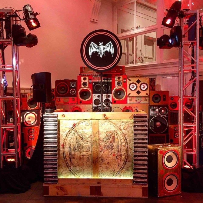 SF Bacardi House Party Major Lazer BoomCase Speaker Wall