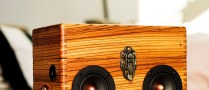 zebra wood box boom box vintage suitcase boombox speaker