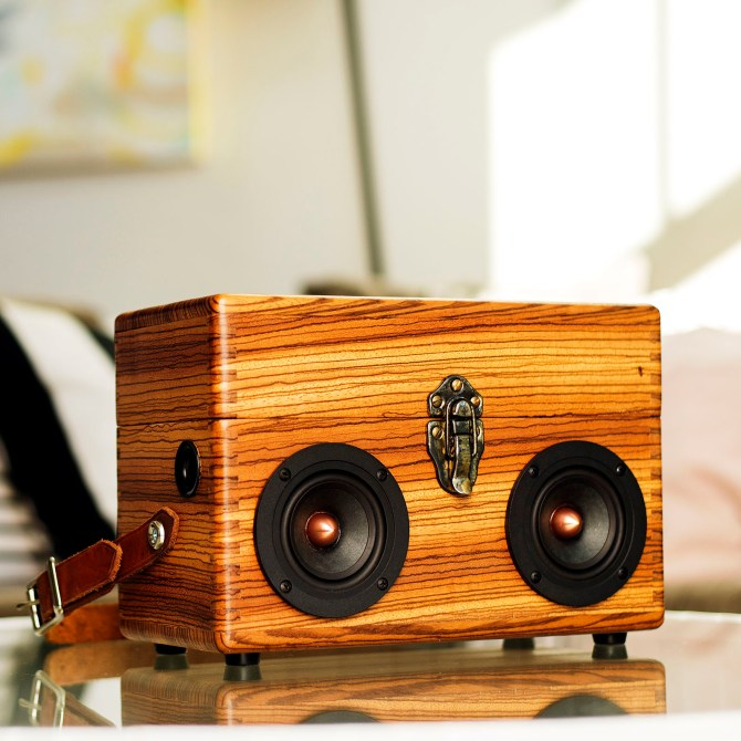 zebra wood box boom box vintage suitcase boombox suitcase speaker