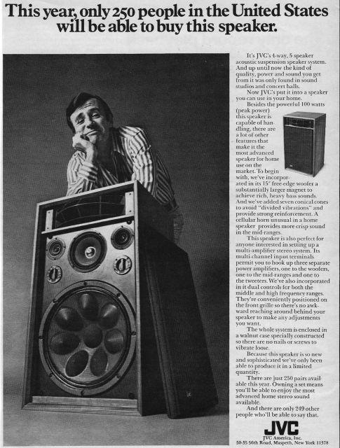 Rare JVC 5345 Speakers vintage