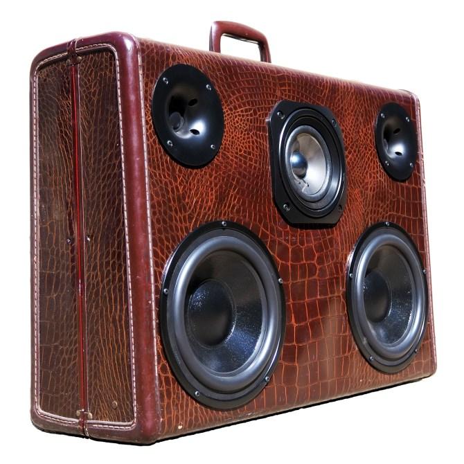 Vintage Suitcase BoomBox BoomCase Speaker Bluetooth