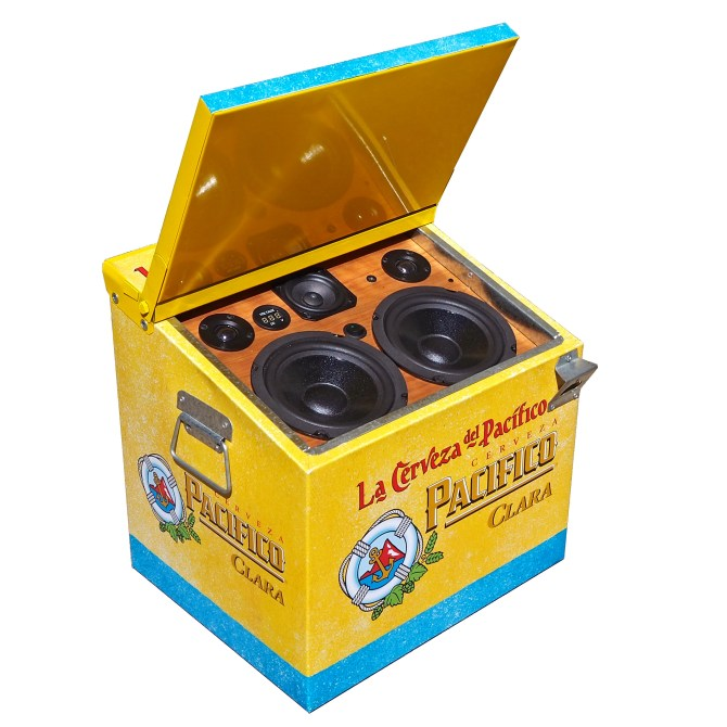 Corona Pacifico BoomCase BoomBox Ice Chest Cooler Cerveza Mexico Beer Vintage Suitcase