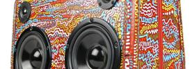 artist painted boombox boomcase australia wooden vintage suitcase boomboxes speaker