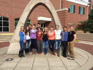 Several seniors attend the Indiana High School Press Association annual convention at Franklin College