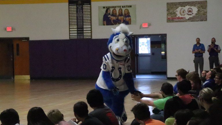 Colts' mascot spreads message about love and kindness