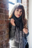 One of our models in our warmest scarf.
