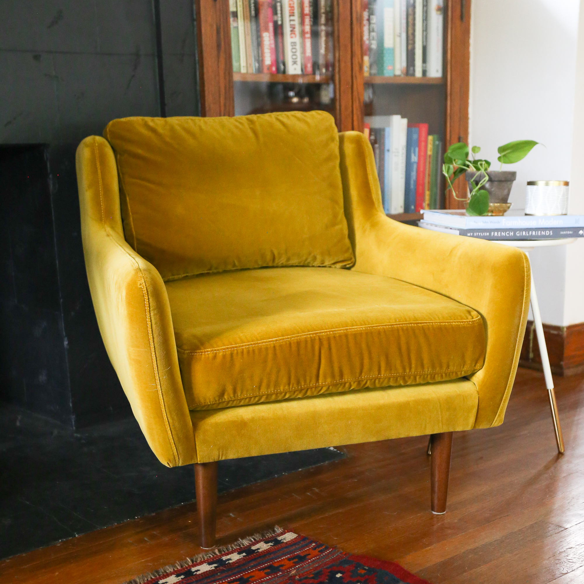 This Gold Velvet Chair From Article Made My Living Room