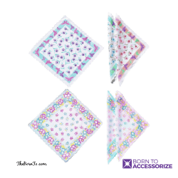 Ladies Butterfly Print Handkerchiefs
