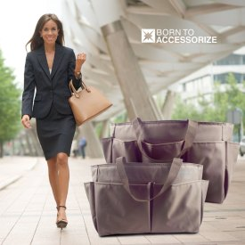 Premium Tote Handbag Organizers in brown