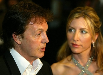 Paul and Heather McCartney in happier days