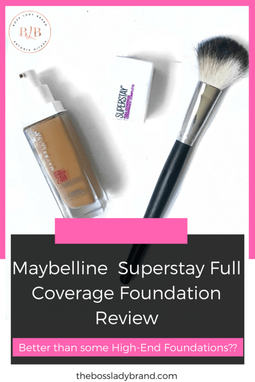 The Maybelline Superstay Full Coverage Foundation honestly surprised me! But the Maybelline Fit Me Matte and Poreless Foundation has always been great, so I really shouldn't have expected anything else.