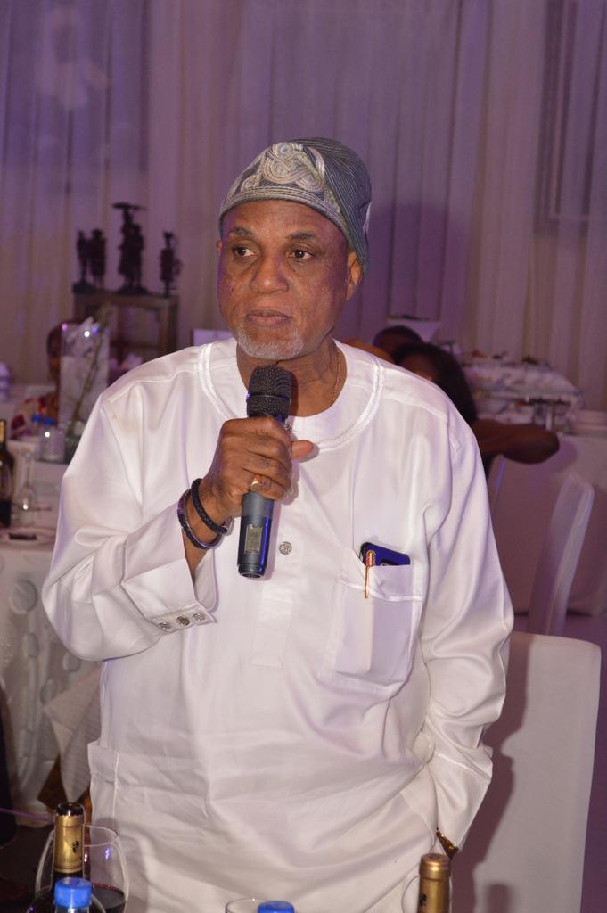Mr. Biodun Shobanjo during his speach