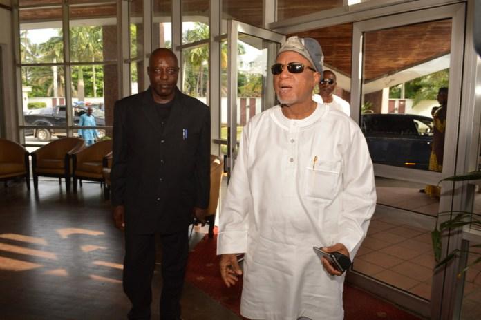Mr. Biodun Shobanjo on arrival