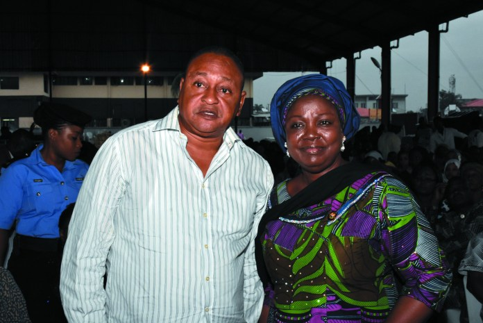 Jide Kosoko with Mrs. Nosimot Adebimpe Akinsola (Special Adviser to Lagos state Governor on Art & Culture)